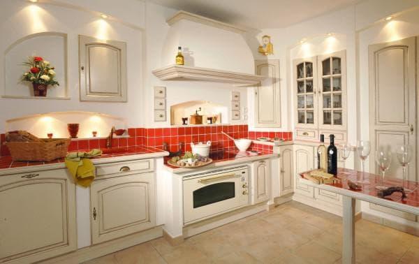 сочетание цветов в интерьере кухни: яркие акценты