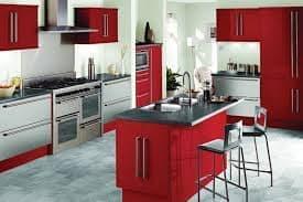 сочетание цветов в интерьере для кухни: серый цвет