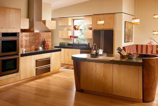 сочетание цветов для кухни в интерьере: коричневая кухня
