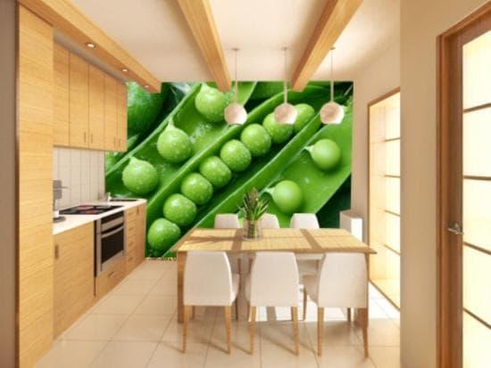 обои для кухни: как выбрать обои с рисунком