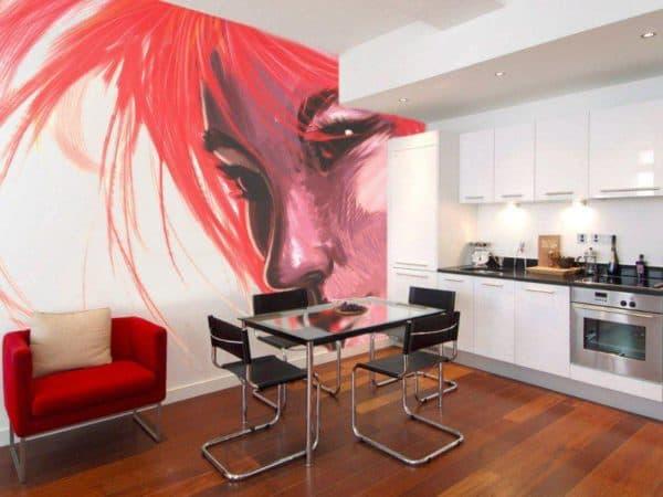 чем отделать стены кухни: рисунок
