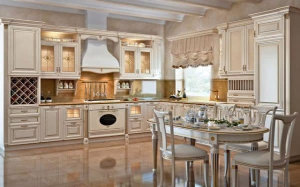 чем отделать стены кухни: классика