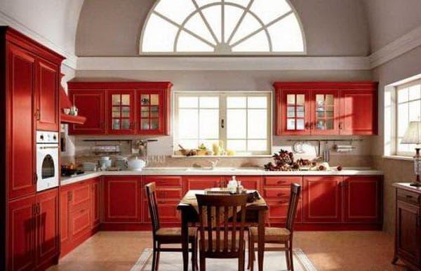 сочетание цветов для интерьера кухни: яркие цвета кухни