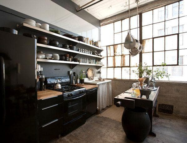 Стильная кухня подойдет не активных и творческих личностей