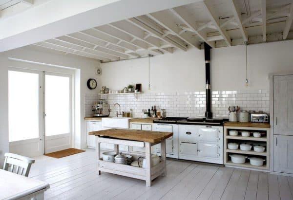 интерьере белой кухни