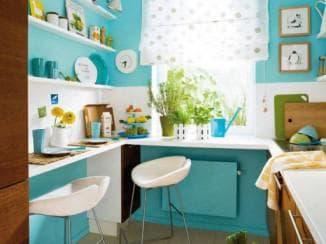 как обставить маленькую кухню