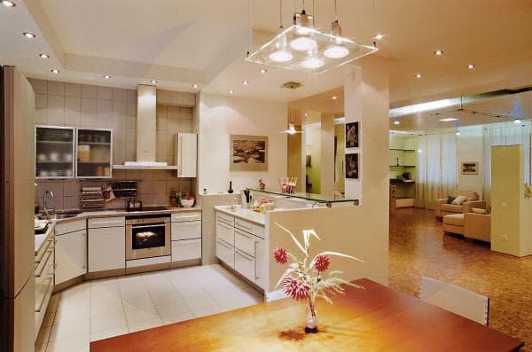 светильники на кухни под шкафы