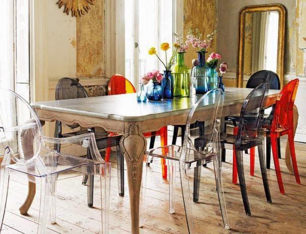 пластиковые стулья на кухню