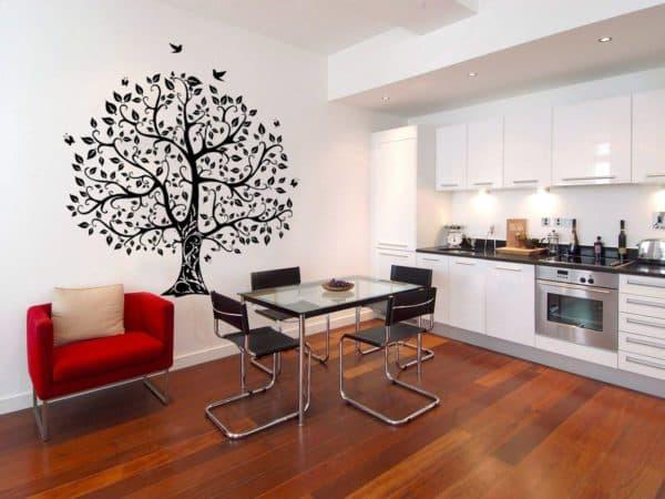 рисунки на стене на кухне