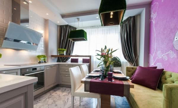 проект кухни с расстановкой мебели