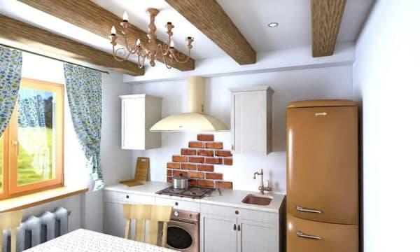 каменная мойка на кухне.