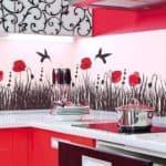 стеклянные фартуки на кухню с фотопечатью