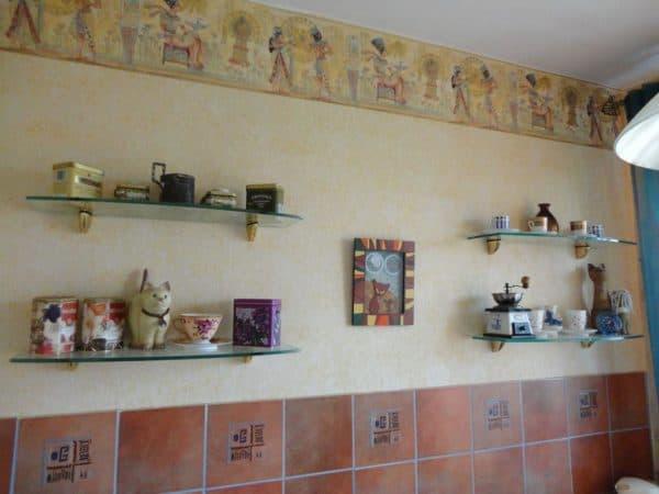 кухня без верхних шкафов дизайн