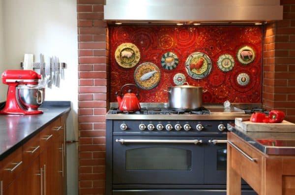 -и-мозаика3-600x396 Интерьер кухни - 50 самых красивых реальных фото, стили