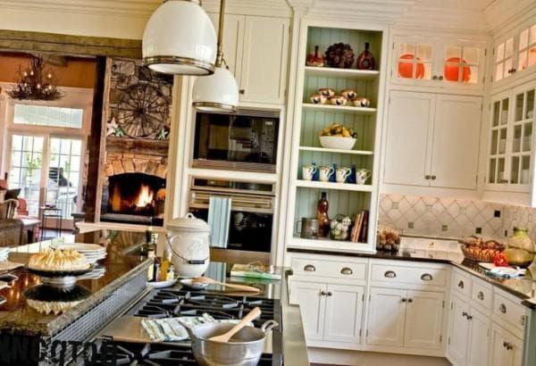 кухня в стиле кантри фото интерьер