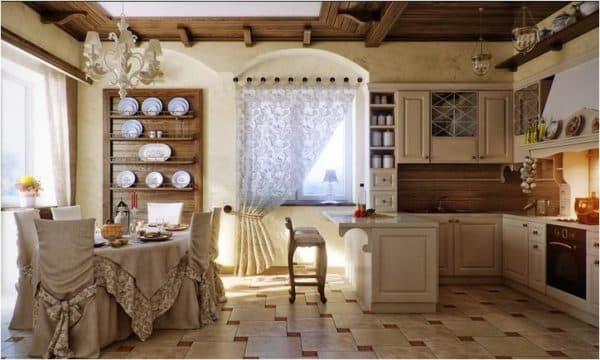 Светлый пол визуально кухню визуально просторной