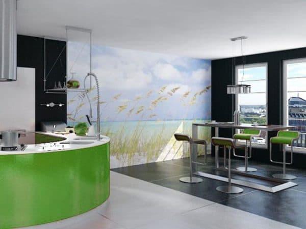 Фрески на стене на кухне