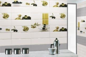 панно их керамической плитки на кухню