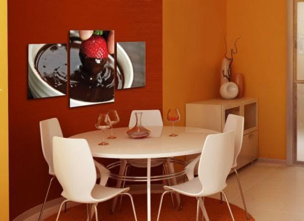Модульные фото картины для кухни