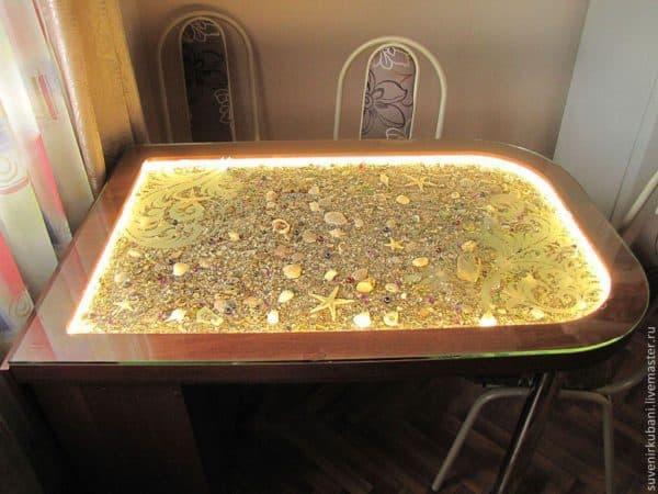 стол кухонный стеклянный на кухню
