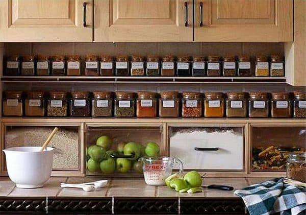 хранение специй в кухне