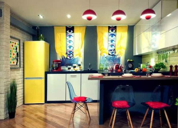 цвет кухни сочетание цветов