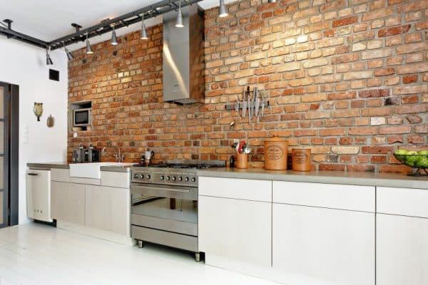 кирпич – терракот на кухне