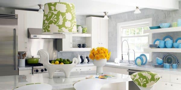 дизайнерские идеи для кухни стилизованный цветочное изображение