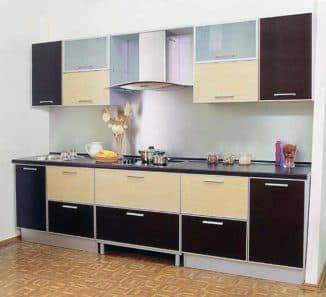 кухня светлый верх темный низ