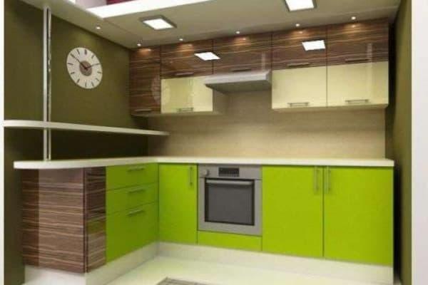 Кухня красный верх темный низ