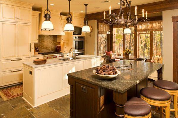 подвесные светильники на кухню над столом