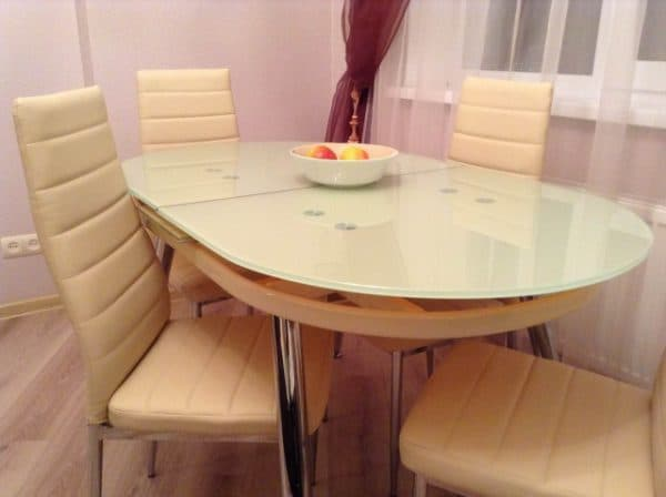 раскладные кухонные овальные столы