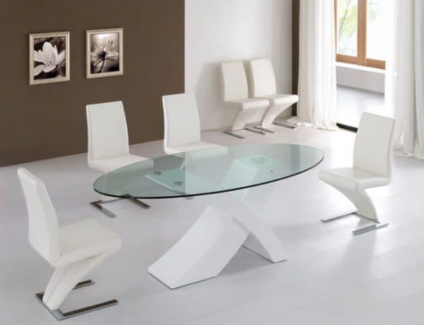 кухонные овальные столы хай тек