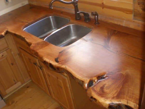 столешница на кухне из дерева