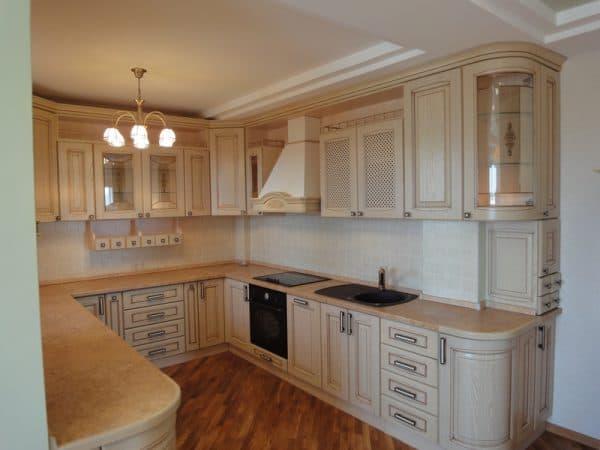 кухонные шкафы для кухни П образной формы