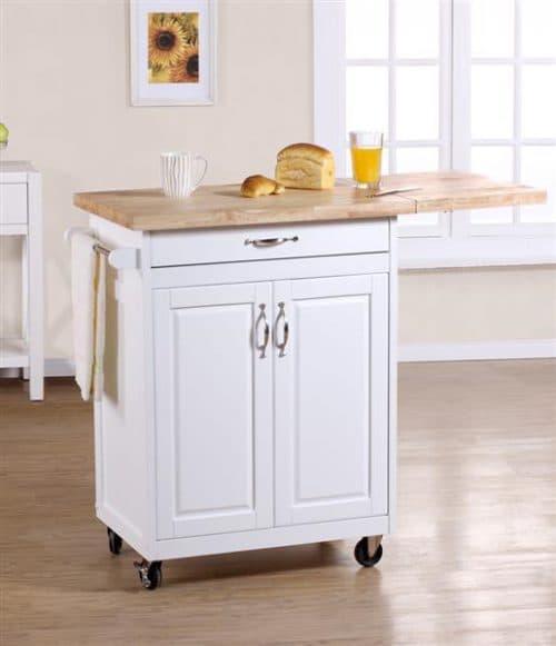 двухдверный стол с одной внутренней полкой на кухне