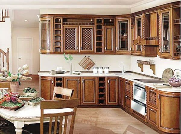 Деревянные фасады для кухни