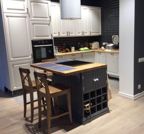 напольные кухонные тумбы со столешницей