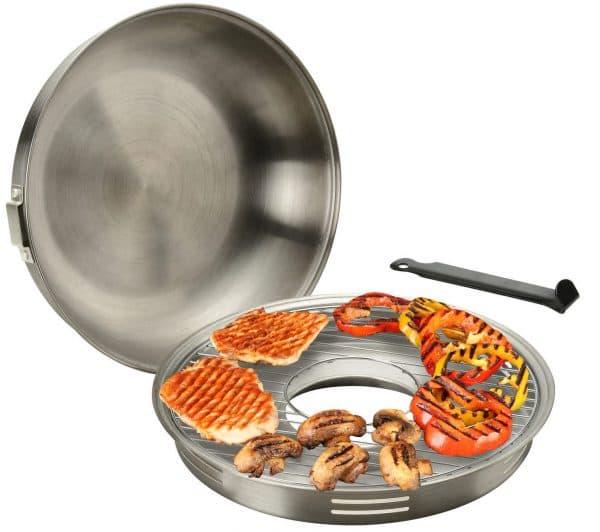 эмалированная гриль сковорода на газовую плиту