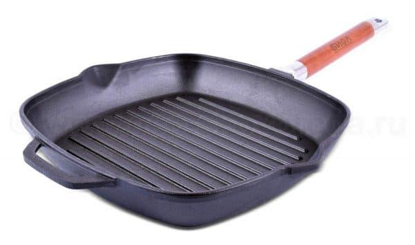чугунная сковорода гриль