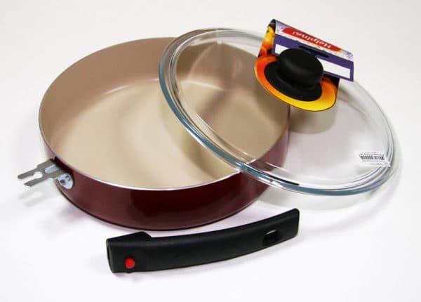 сковорода с антипригарным тефлоновым покрытием