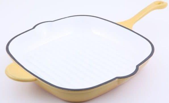 эмалированная сковорода гриль для индукционной плиты