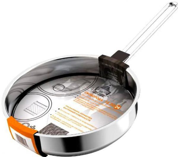 сковорода гриль из нержавейки для индукционной плиты