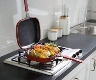 двусторонняя сковорода с антипригарным покрытием