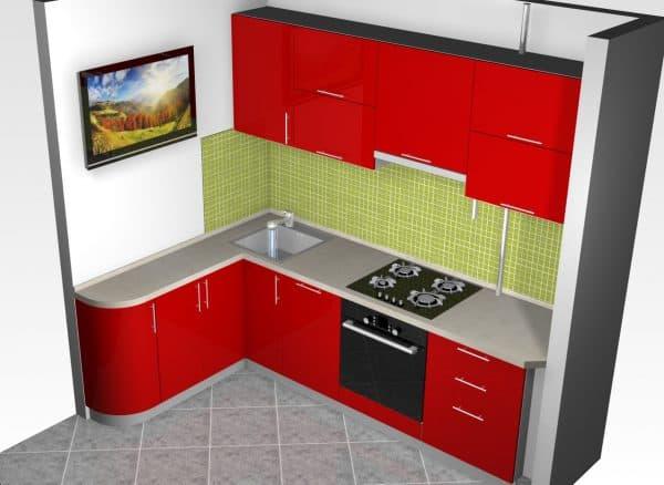 дизайн угловых кухонных гарнитуров