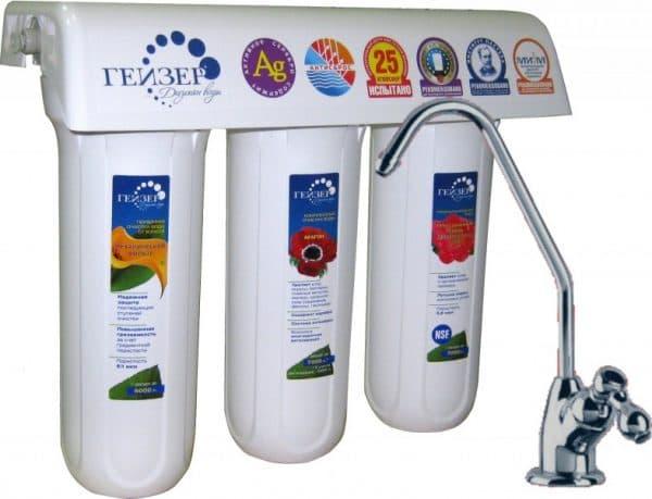 стационарный фильтр для воды под мойку гейзер