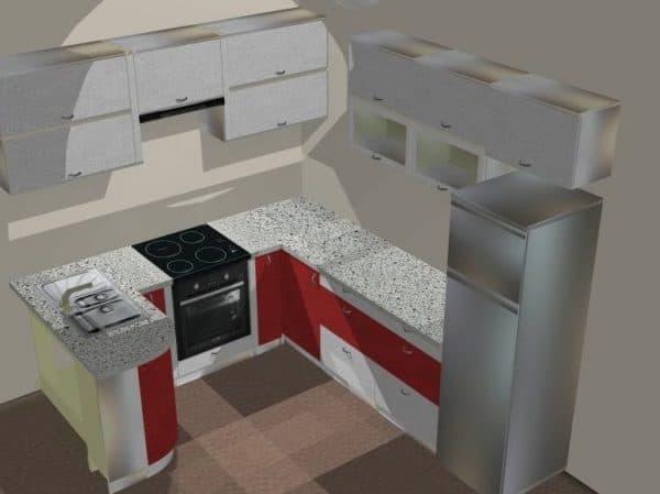 П образный кухонный гарнитур для кухни