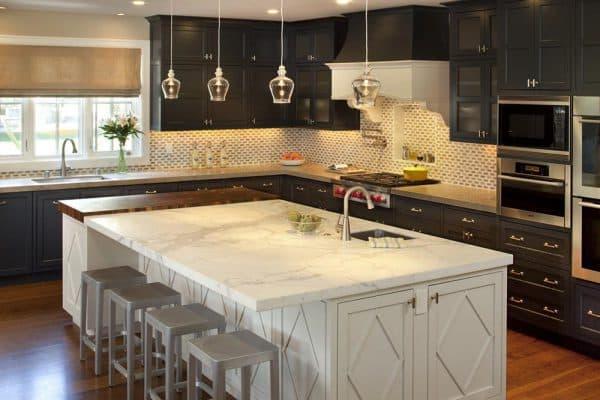 кухонный гарнитур для кухни с полуостровом