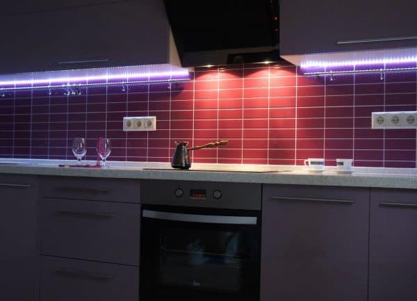 накладная точечная Led подсветка кухонного гарнитура
