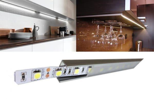 Led подсветка кухонного гарнитура под навесными шкафами